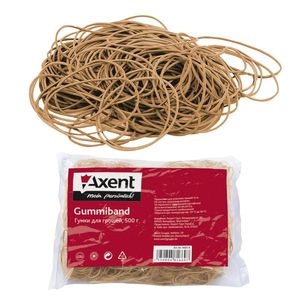 Резинки для денег, 50 г, натуральный каучук Axent 4630-А