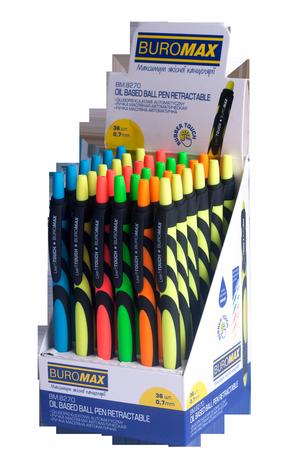 Ручка шариковая автоматическая Live Touch 0,7мм Buromax BM.8270 синяя