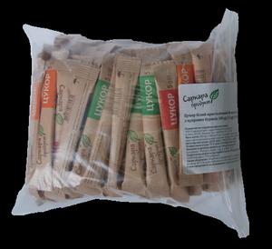 Сахар-песок в стиках ( 5г х 100 шт,) 0,5кг, zip-пакет 16002