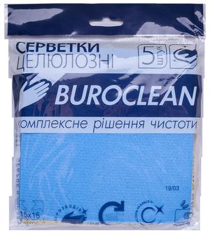 Салфетки целлюлозные влаговпитывающие Buroclean 15*15 см (5 шт) 10200113