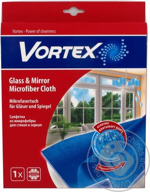 Салфетка-микрофибра для стекол 35х35см Vortex-18300920 0146575