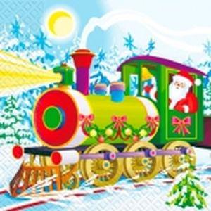 Салфетки 33х33 Поезд 20шт Марго 0126820
