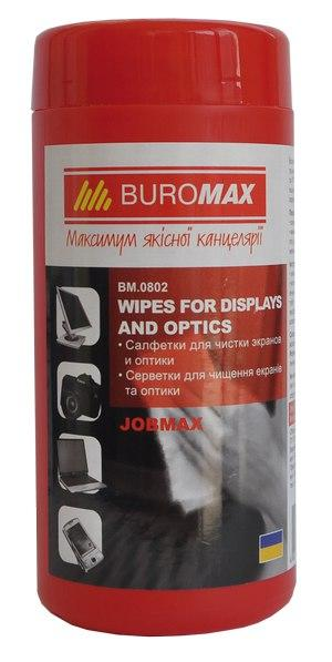Салфетки для экранов и оптики JOBMAX Buromax BM.0802