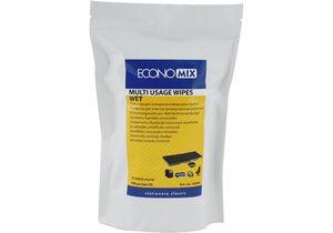 Салфетки для оргтехники влажные 100 шт., мягкая упаковка Economix E72644