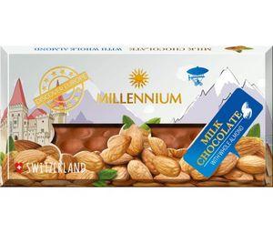Шоколад мол Millennium Discover Europe цельный миндаль 100г 10726639