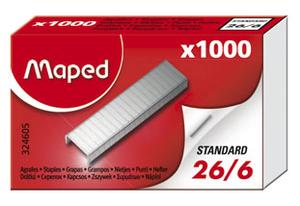Скобы №26/6 1000 шт Maped MP.324605