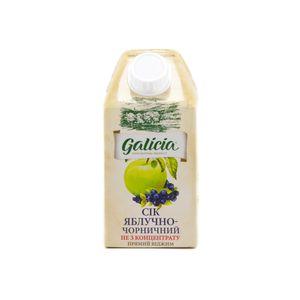 Сок Galicia яблочно-черничный прямого отжима 0,5л 10549580