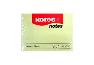 Стикеры 75х100 100л Kores K46100(светло-желтые)