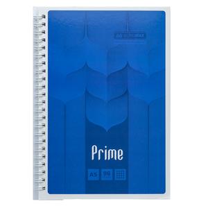 Тетрадь на пружине PRIME А5 96 листов, клетка, в картонной обложке Buromax BM.24551101
