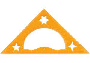 Треугольник 15 см (45 *90*45) с транспортиром Economix E81382