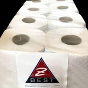 Туалетная бумага - ЭКО 8 рулонов 50 м d = 12.5 cм 1-но слойная Z-BEST белая - рециклинг 0130826