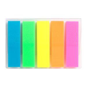 Закладки пластиковые неонового цвета 12х45 мм 125 штук Delta D2450